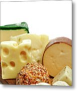 Cheese Slices Metal Print