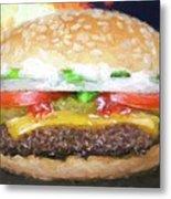 Cheeseburger Deluxe Metal Print