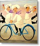 Chefs On A Bike Metal Print