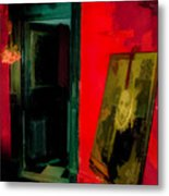 Chelsea Hotel Abstract Metal Print