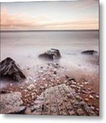 Chemical Beach Tide Metal Print