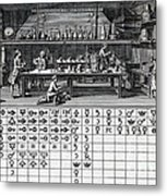 Chemical Lab With Proto-periodic Table Metal Print