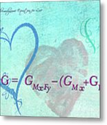 Chemical Thermodynamic Equation For Love Metal Print