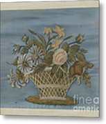 Chenille Embroidery Metal Print