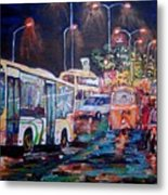 Chennai Traffic Metal Print
