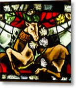 Chenonceau Stained Glass Metal Print