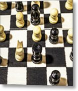 Chequered Strategic Battle Metal Print