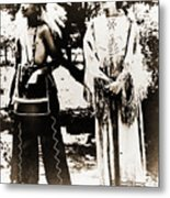 Cherokee Indian Couple Metal Print