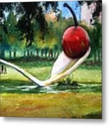Cherry And Spoon Metal Print
