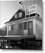 Cherry Beach Boat House Metal Print