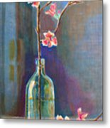 Cherry Blossoms In A Bottle Metal Print