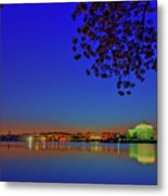 Cherry Blossoms Sunrise Metal Print