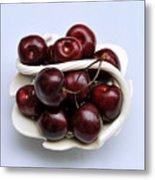 Cherry Dish Metal Print