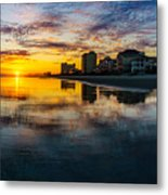 Cherry Grove Beach Front Sunset Metal Print