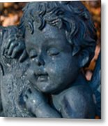 Cherub Sleeping Metal Print