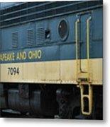 Chesapeake And Ohio Boxcar  Metal Print