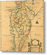 Chesapeake Bay 1786 Metal Print