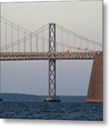 Chesapeake Bay Bridge - Maryland Metal Print by Brendan Reals
