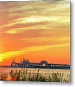 Chesapeake Bay Bridge Sunset Metal Print