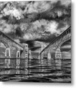 Chesapeake Bay Bw Metal Print