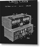 Chess Clock Patent Metal Print