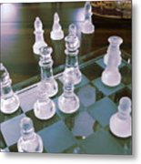 Chess Is Not For Sissies Metal Print by Anne-Elizabeth Whiteway