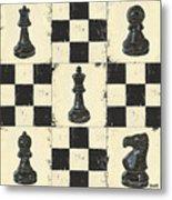 Chess Pieces Metal Print by Debbie DeWitt