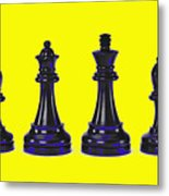 Chessmen Metal Print