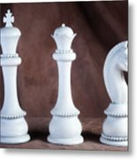 Chessmen V Metal Print