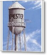 Chester Water Tower Poster Metal Print