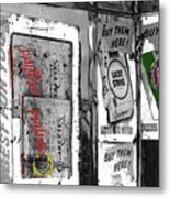 Chesterfield And Lucky Strike Cigarette Signs S. Meyer Avenue Barrio, Tucson, Az 1967-2016 Metal Print