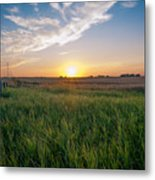 Chestermere Sunset Metal Print by Adnan Bhatti