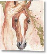 Chestnut Arabian Horse 2016 08 02 Metal Print