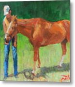 Chestnut The Horse Metal Print