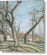 Chestnut Trees At Louveciennes Metal Print by Camille Pissarro