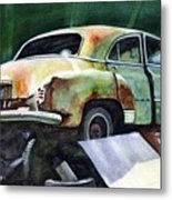 Chev At Rest Metal Print