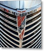 Chevrolet Chrome Metal Print