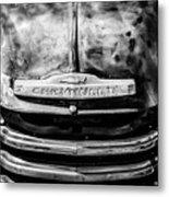 Chevrolet Truck Grille Emblem -0839bw1 Metal Print