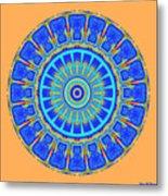 Chevrons Mandala Metal Print