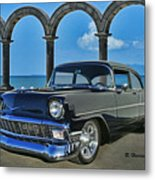 Chevy Belair In Mexico Metal Print