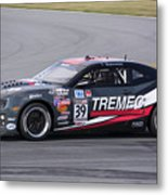 Chevy Camaro At Daytona Raceway Metal Print