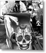 Chevy Decor Day Of Dead Bw Metal Print