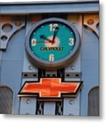 Chevy Times Square Clock Metal Print