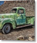 Chevy Truck Route 66 Metal Print