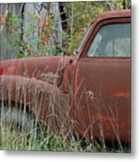 Chevy Truck Rusting Along Road Metal Print