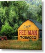 Chew Red Man Metal Print