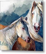 Cheyenne And Tripod Metal Print