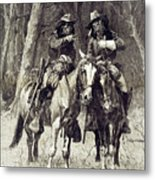Cheyenne Scouts Patrolling The Big Timber Of The North Canadian, Metal Print