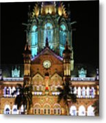 Chhatrapati Shivaji Terminus Formerly Victoria Terminus In Mumbai-3 Metal Print
