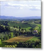 Chianti Region In Italy Metal Print by Gregory Ochocki and Photo Researchers